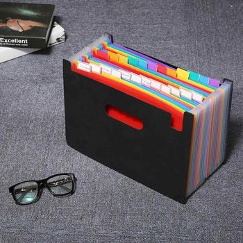 24 kieszenie rozkładana teczka A4 organizator przenośny Rainbow narządów biznesu plików teczka na dokumenty torba do przechowywania tanie i dobre opinie KICUTE CN (pochodzenie) Rozszerzenie portfel Folder Z tworzywa sztucznego 675786