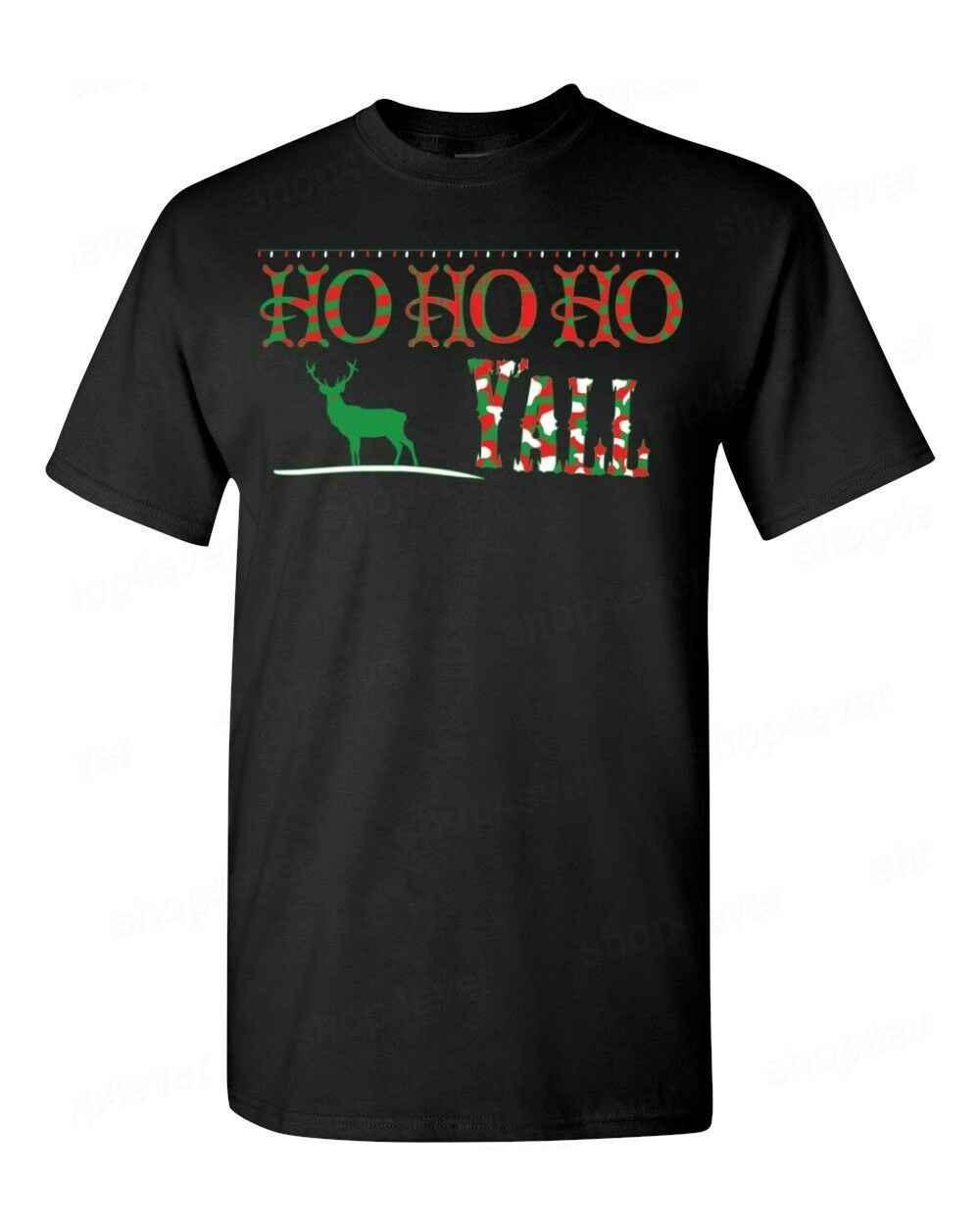Ho Ho Ho Y'all T-Shirt Grappige Lelijke Kerst Vakantie Feestelijke Rendier Santa Tees2019 modieuze Merk 100% katoen Gedrukt Ronde N