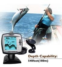 Купить с кэшбэком  Lucky Boat Fish Finder FindFish  Lure Sounder Findfish Echo sensor FishFinder FF918-180S Wired Shore Sonar Fish Lure LCD Finder