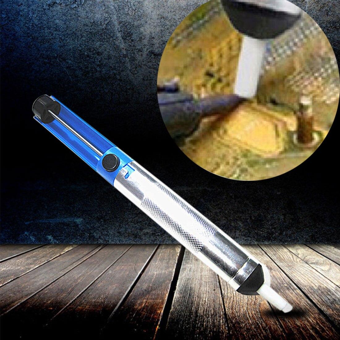 Hot 1pcs Solder Sucker Desoldering Pump Tool Removal Vacuum Soldering Iron Desolder High Quality Solder Remover 10 pcs jfbl hot sale high quality repair part deburred tool 10pcs bs1010 s10 1pcs nb1100 deburring tool blades