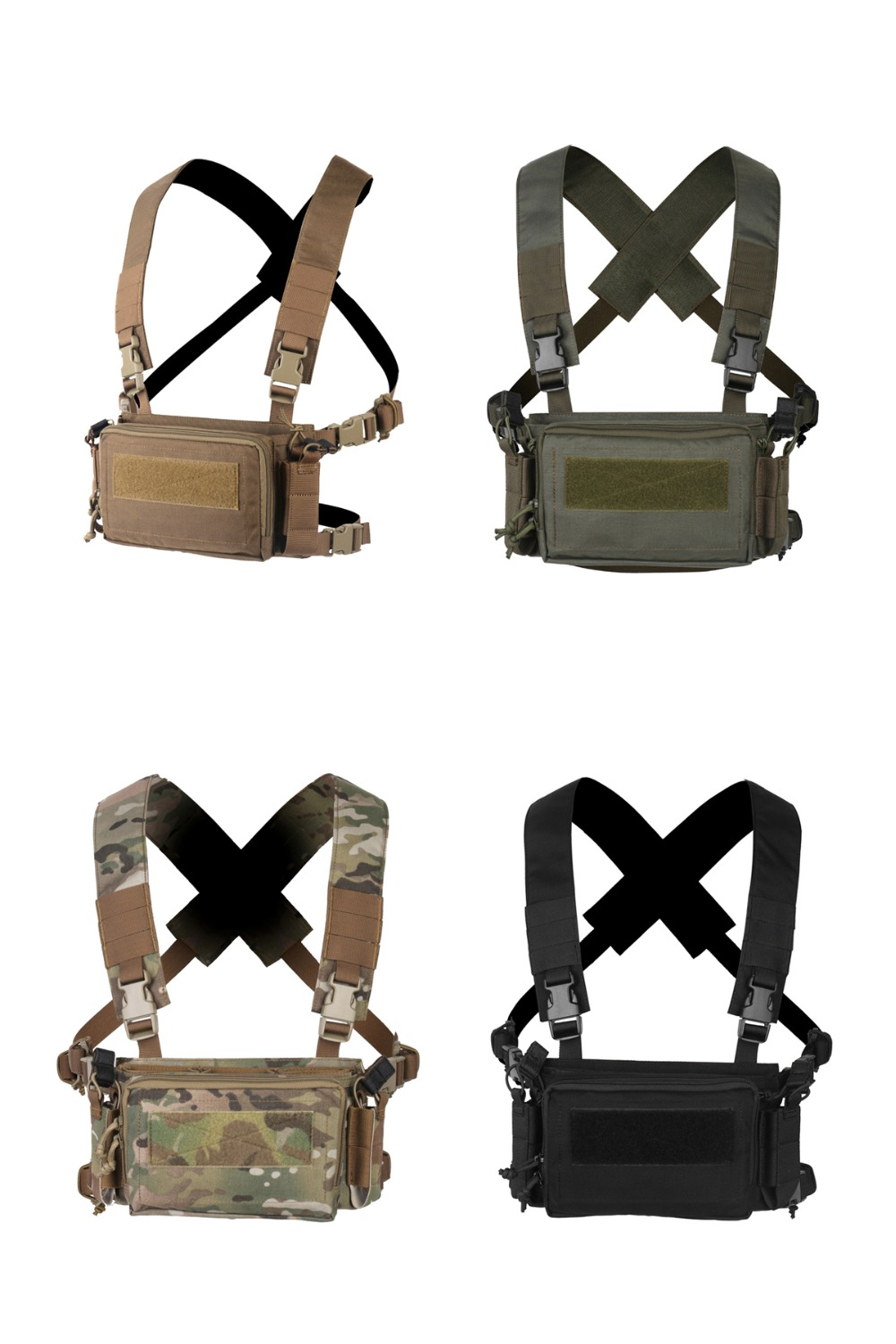 D3CRM Mini Tactical Chest Rig Haley Airsoft Hunting Vest Molle Pouch Simple Military Tactical Vest with Magazine Pouch