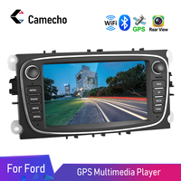 Camecho 7'' GPS Android 8.1 Car Multimedia Player Car Radio Wifi 2DIN Car Mp5 Player For Ford/Focus/S Max/Mondeo 9/Galaxy/C Max