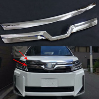 High quality ABS Chrome Front Upper Grille grille trims Grills Frames Decoration For Toyota Voxy Noah R80 2017 2018 2019