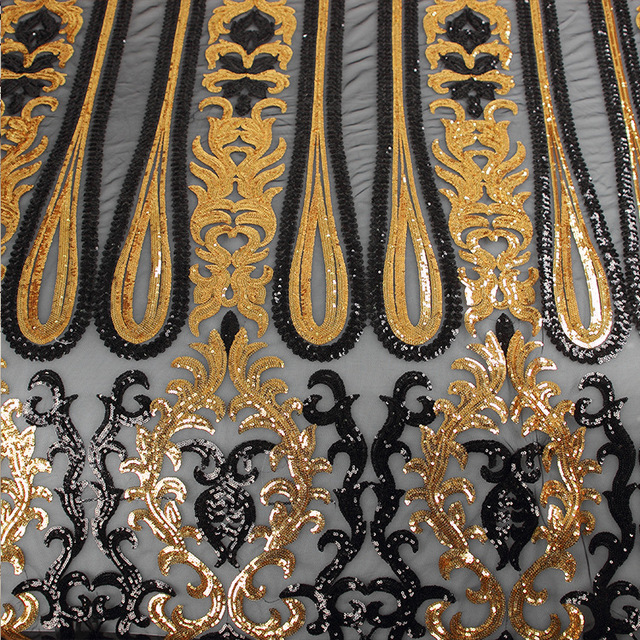 Beads Sequins Embroidery Fashion Euramerican Style Sequins Fabric