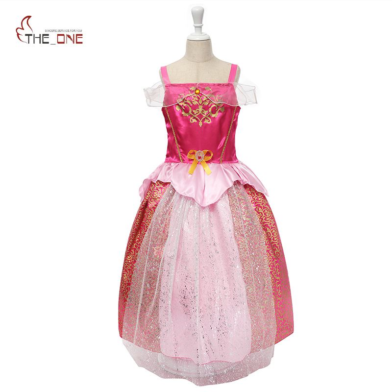 MUABABY Girls Sleeping Beauty Costume Kids Summer Princess Ball Gown Children Sleeveless Party Dresses Girl Cospaly Clothing