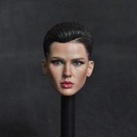 1/6 Scale Female Body Guard Fashionist Ruby Rose Head Carved Model for 12''Suntan Action Figures