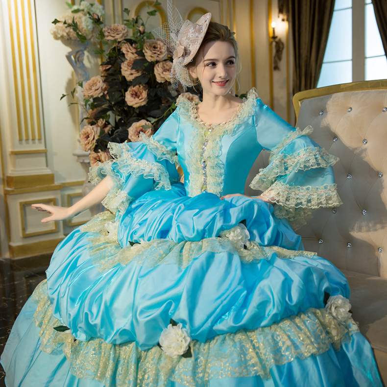 18th Century Court Dress Ladies Princess Party Southern Belle