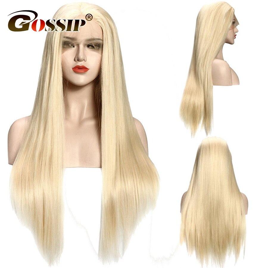 613 # Full Lace Perruques Avec Bébé Cheveux Brésiliens Droite Avant de Lacet Perruques de Cheveux Humains Pré Pincées Miel Blond Humains cheveux Perruques
