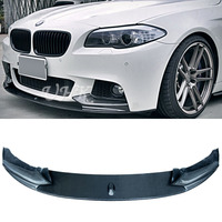 UHK For BMW 5 Series F10 M TECH MP Carbon Fiber Front Bumper Lip Spoiler Diffuser Splitter Car Bumper Protector Diffusor