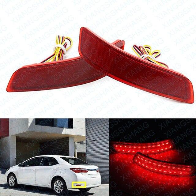 2x Red LEVOU Choques Refletor Traseiro Luz de Aviso Luz da Cauda do Freio de Estacionamento para Toyota Corolla/Lexus ES GS 250/350/300 h/450