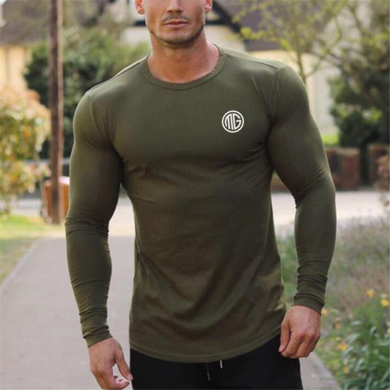 Muscleguys Brand 2018 Fashion Clothes Solid Color Long -4825