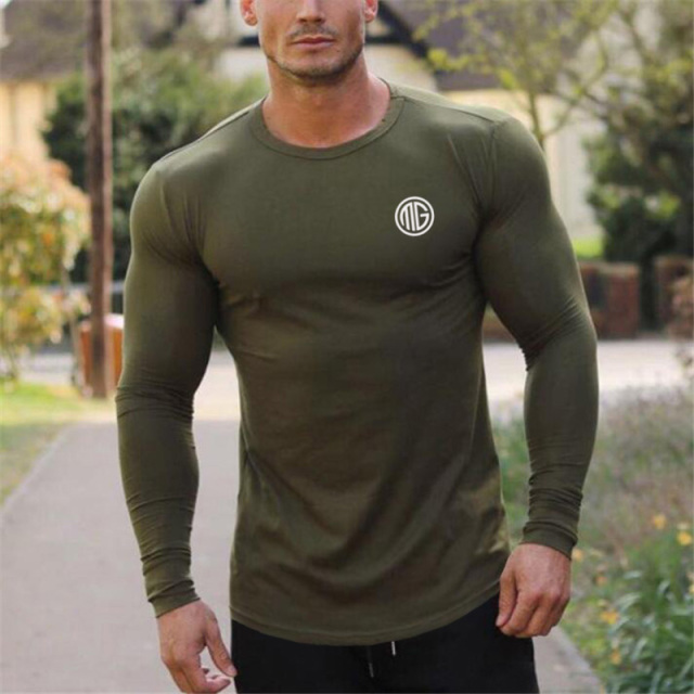 Muscleguys Brand 2018 Fashion Clothes Solid Color Long -1721