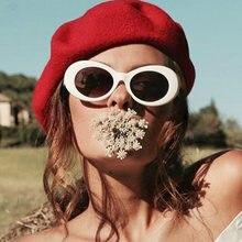 8aad03cea1e ROSANNA 2018 Super Hot Eyewear Retro Vintage Oval Round Sunglasses Men Women  Alien Sunglasses NIRVANA Kurt Cobain Shades UV400