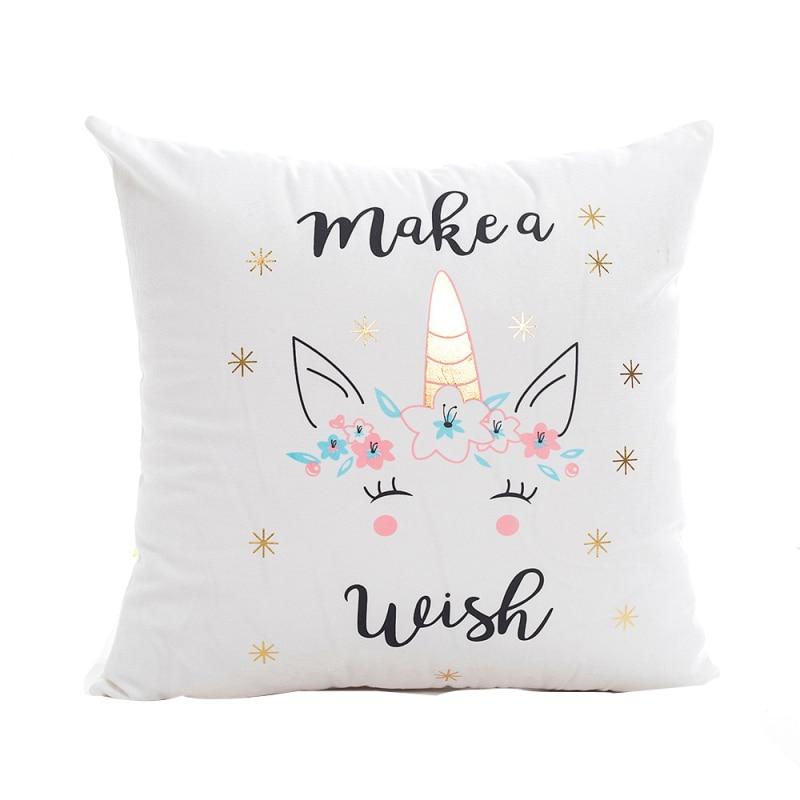 YOMI Z 2018 Fashion Cushion Covers 43cm*43cm Pillow Coussin De Salon Sofa Print unicorn Pillowcase Nordic Kussenhoes Hot sale