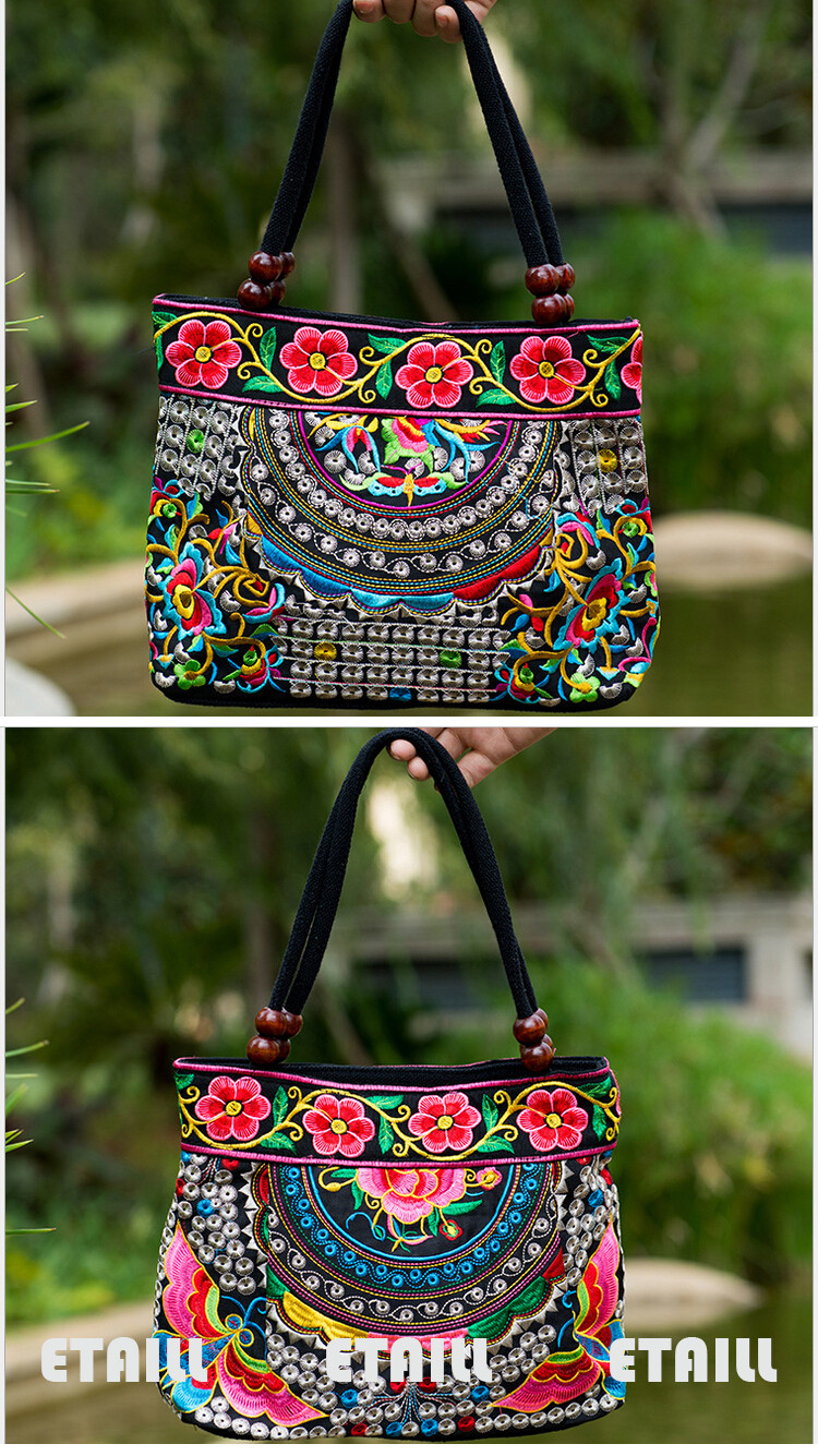 messenger bag Embroidered handbag