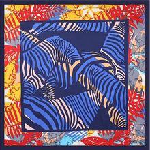 Designer women 100%twill silk scarf Fashionable animal printed headband square scarves Women kerchief small 60*60CM