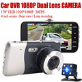 Panlelo Dash Cam Car DVR Camera Dual Lens Video Recorder Night vision Parking Monitor Auto Camera Motion Detection Full HD 1080P