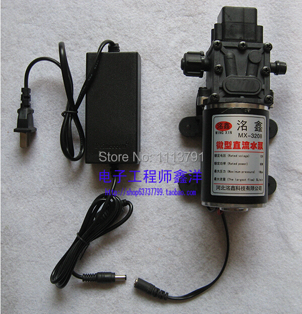 Miniature water pump, water pump with power converter 220V small household electric diaphragm pump electric water transfer pump 30m head 2 inch small electric water pump 2000l h electric water pump ss304 small water pump