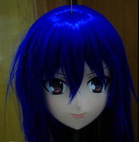 (C2 051) Female Silicone Full Head Face Masks with Hair Cosplay Kigurumi Mask Crossdresser Doll Japan Kigurumi Anime Role Play