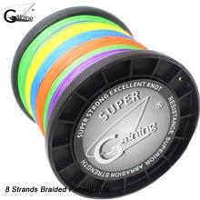 Gewinnt 8 Strands Geflochtene Angelschnur 1000m Multicolor Japan Super Starke Multifilament Angelschnur 30LB 40LB 85Lb 128LB 200LB