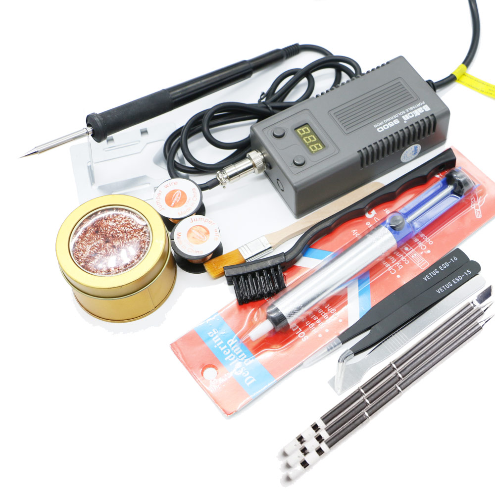 Bakon BK950D Welding Solder Soldering Iron 220/110 50W Internal Heating Type Welding Tool Trinity Digital Display And T13 Heater