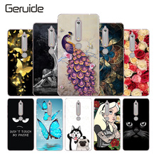 hot deal buy geruide for case nokia 6 2018 nokia 6.1 cover 3d pattern flower bag shell for nokia 6 2018 case soft silicone tpu for nokia 6.1
