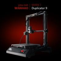 2018 WANHAO النسخة الجديدة FDM 3d طابعة D9 3d آلة طباعة مع السيارات التسوية كبيرة حجم الطباعة آلة طباعة prusa i3