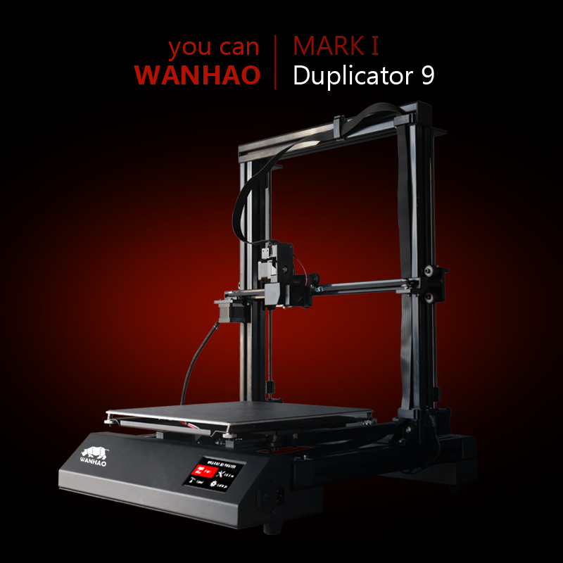2018 WANHAO new version FDM 3d printer D9 3d printing machine with auto leveling large print size printing machine prusa i3 2018 new upgrade wanhao i3 plus 2 0 wanhao i3 plus mk2 reprap developer prusa wanhao 3d printer with touch screen auto level