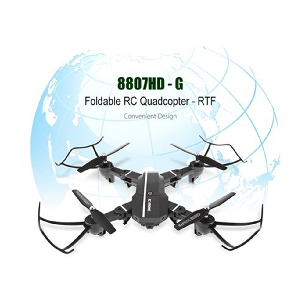 8807HD Foldable RC Quadcopter Mini Drone RC Helicopter HD Camera RTF WiFi FPV Voice Control/G-sensor Mode VS XS809W Drone Toys