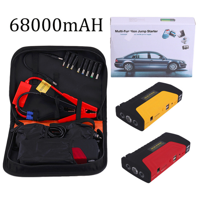 New 68000ma Multifunctional Portable Cars Auto Emergency Start Car Jump Starter Power Bank With Three Lights Engine Booster
