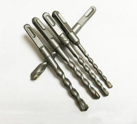 Free Shipping High Quality 5 Pcs Of Four Square Shank Hammer Drill Through The Wall Quarrying