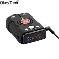 OkeyTech V8 Anti Radar Detector Full 16 Band LED Display Car Alarm 360 Degrees Vehicle Auto Laser Security Car Speed Control