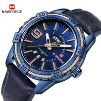 Naviforce Top Brand Men S Sport Watches Men 30M Waterproof Genuine Leather Analog Quartz Wrist Watch