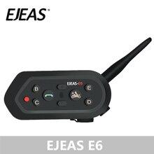 EJEAS E6 1200 メートルインターホンオートバイヘルメット Bluetooth ヘッドセット VOX MP3 GPS USB 550 6 ライダーのためのアクセサリー