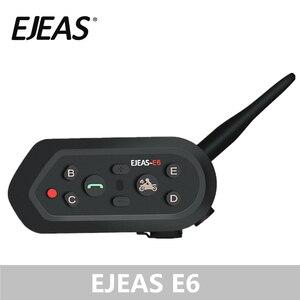 Image 1 - EJEAS E6 1200M 인터폰 오토바이 헬멧 블루투스 헤드셋 VOX MP3 GPS USB 550mAh 배터리 6 라이더 액세서리