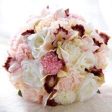Букет ручной работы Свадебный букет Европейский шезлонг розы, поддельные цветы, украшение дома, эмуляция, свадебный букет