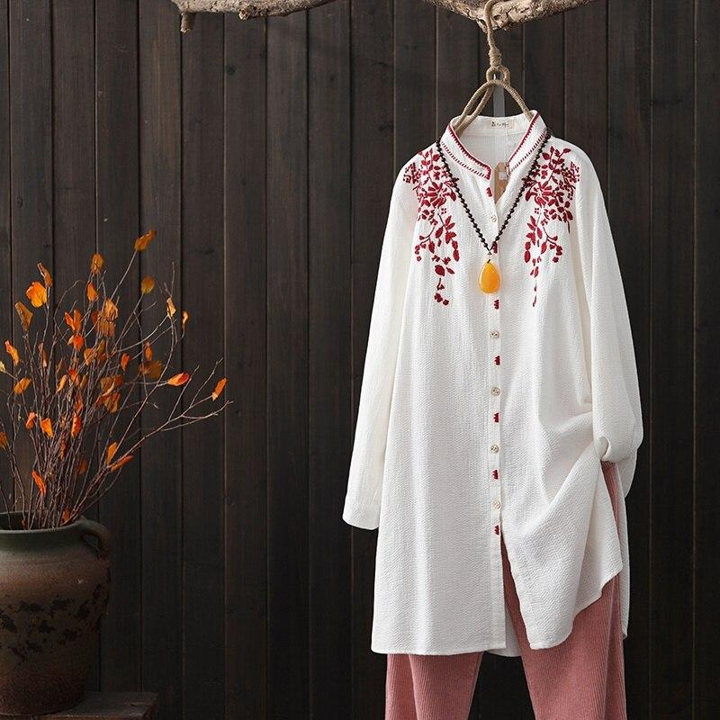 Tops de verano 2019 blusa Oriental de primavera estilo chino camisa de Mujer rural blusas tops y ropa de calle japonesa AA4695-in Blusas y camisas from Ropa de mujer on AliExpress - 11.11_Double 11_Singles' Day 1