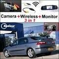 3 in1 Câmera de Visão Traseira Sem Fio + Receptor + Monitor Espelho Especial Fácil Sistema De Estacionamento Para Renault Laguna 2 3