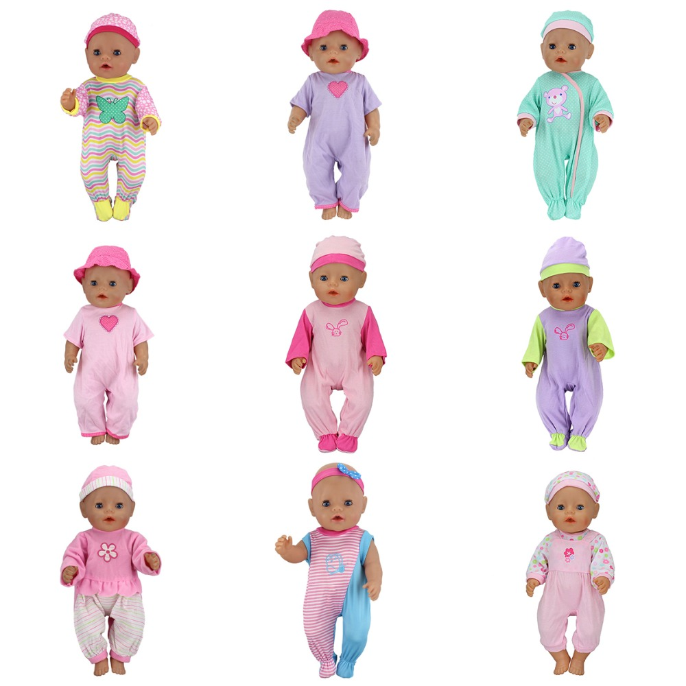 Fashion Dolls Jump Suits With The Hat Fit For 43cm Baby Born Zapf Doll Reborn Baby Clothes 17inch Doll Accessories rose christmas gift 18 inch american girl doll swim clothes dress also fit for 43cm baby born zapf dolls