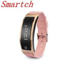 Smartch Bluetooth4.2 монитор сердечного ритма Браслет Шагомер фитнес-трекер Спорт Смарт-браслет для iOS и Android Xiaomi т. д.
