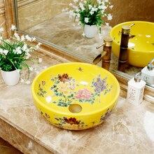 Умывальник керамический врезной бассейна круглый art умывальник Европейский умывальник дома ванная комната lo1261816