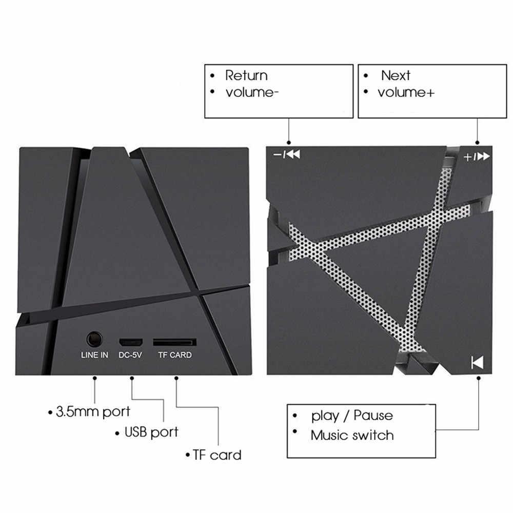 Haut-parleurs Bluetooth portables Abuzhen boîte de son stéréo sans fil barre de son haut-parleur Boombox avec LED micro