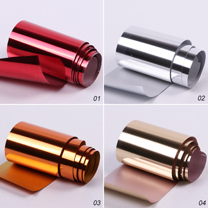 Image 4 - 14pc or 1 pc Metal Transfer Foil for Nail Art Laser Mirror Effect Charm Nail Foil Sticker Decal Manicure Accessories LA996 2
