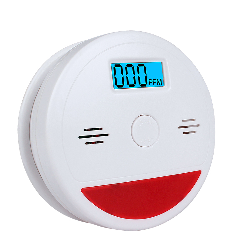 1pcs CO Sensor LCD Photoelectric Home Security Independent Carbon Monoxide Poisoning Alarm Detector 85dB High Quality