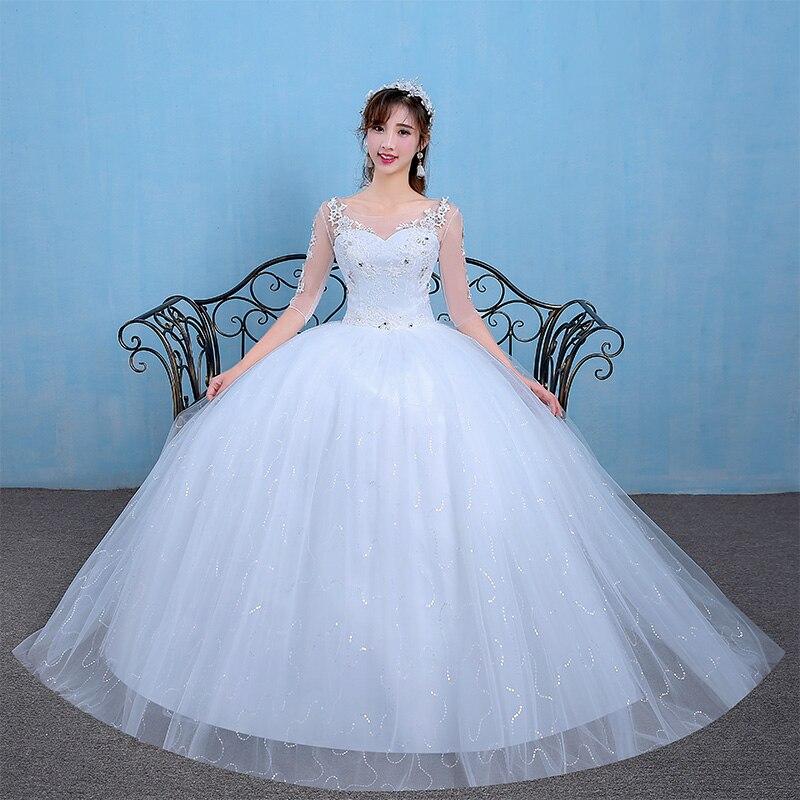 Luxury Princess Ball gown Wedding Dress  Lace Embroidery Beading gowns Wedding Dresses 2017 vestidos de noiva robe de mariage