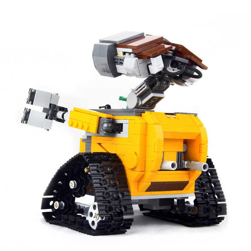 687 шт. игрушки для детей Совместимые создатели 16003 идея робот стены E фигурки строительный блок подарки на день рождения