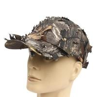 חמה למכירה חיצונית טקטית צבאי הסוואה צלף cap עם bionic עלה צבא camo ציד כובע כובע ג 'ונגל חבויה