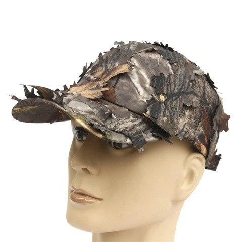 Quente ao ar Boné com Folha Biônica do Exército Chapéu da Selva Venda Livre Tático Militar Camuflagem Camo Caça Chapéu Sniper Escondido