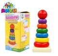 1 PC colorful rainbow anel copo dobrável bebê montessori brinquedos educativos de madeira presentes