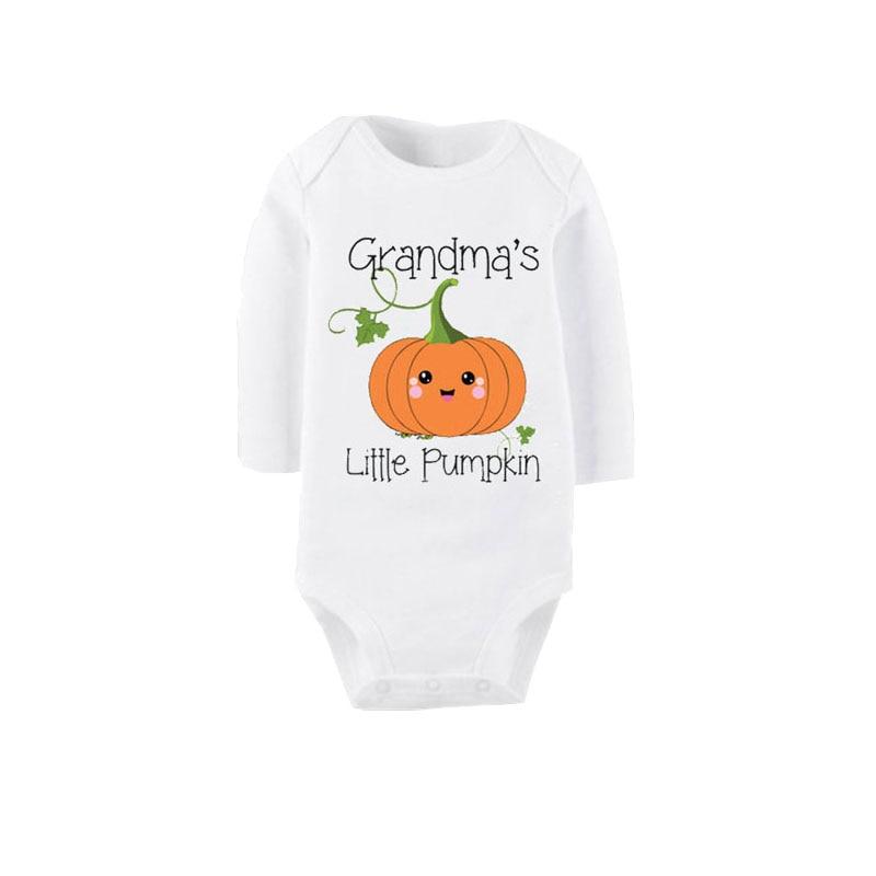 Pumpkin Cotton Unisex Baby Infant Long Sleeve Onesies Bodysuits
